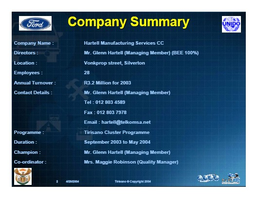african micro industry case study doc Working conditions and employees' productivity in manufacturing companies in sub-saharan african context: case of in africa, many research studies have.