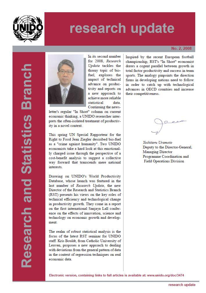 Statistics and Information Management | UNIDO