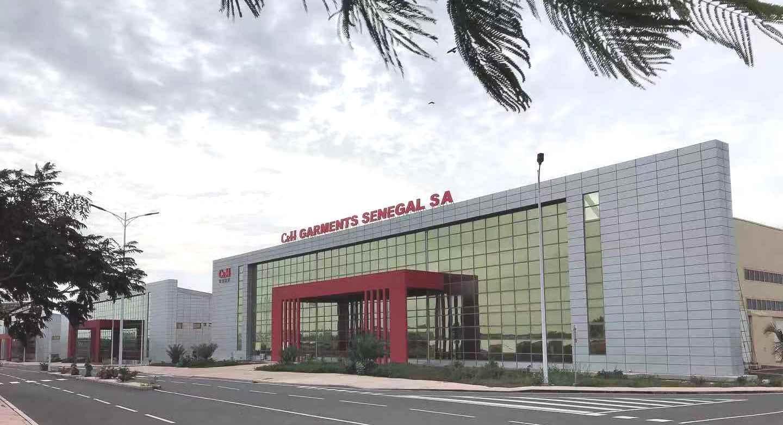 Entrance to the C&H Garments Senegal factory