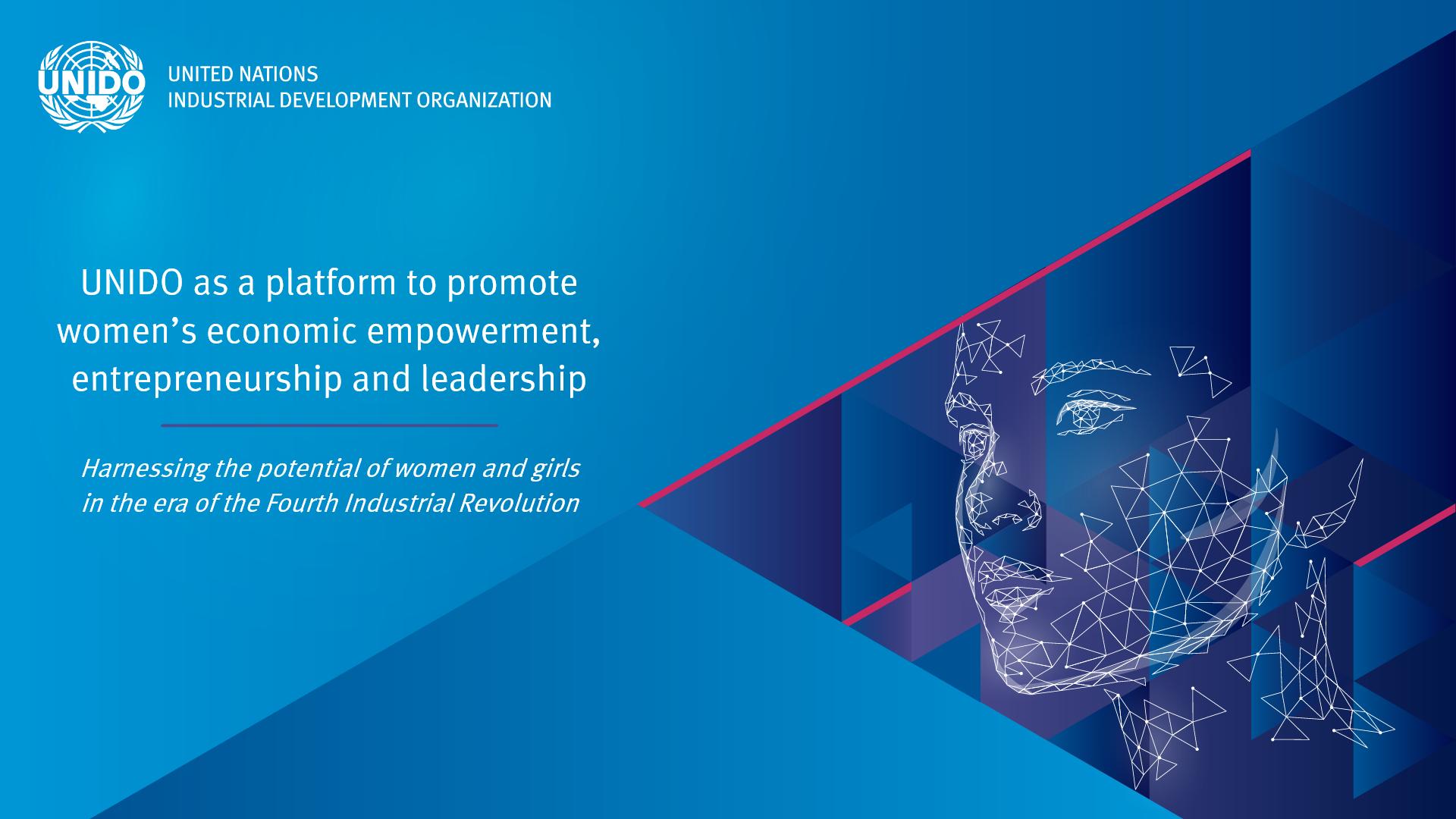UNIDO as a platform to promote women's economic empowerment, entrepreneurship and leadership
