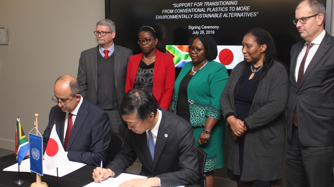 Japan funds UNIDO project in South Africa to find alternatives to single-use plastic