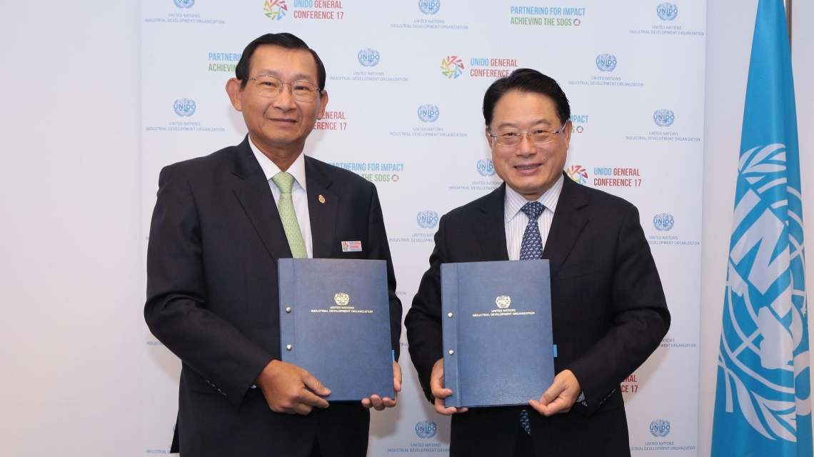 Cambodia becomes the first country in Asia to agree a Programme for Country Partnership with UNIDO