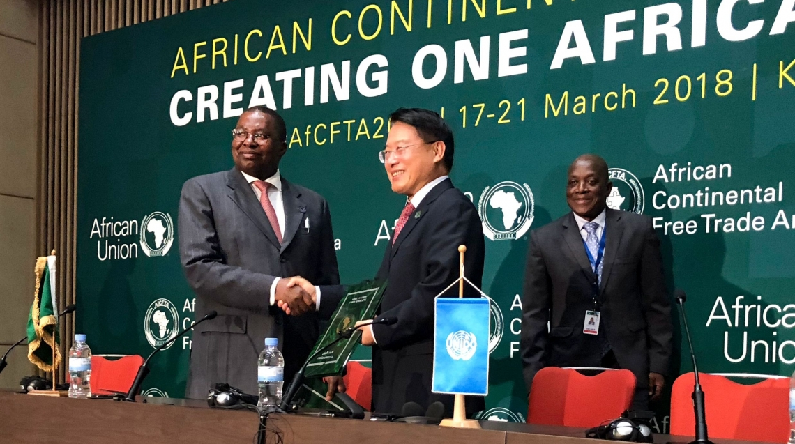 UNIDO Director General attends launch of Continental Free Trade Area