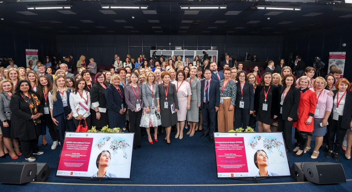 Increasing the contribution of women to economic growth and prosperity was the focus of UNIDO event at St. Petersburg International Economic Forum 2018