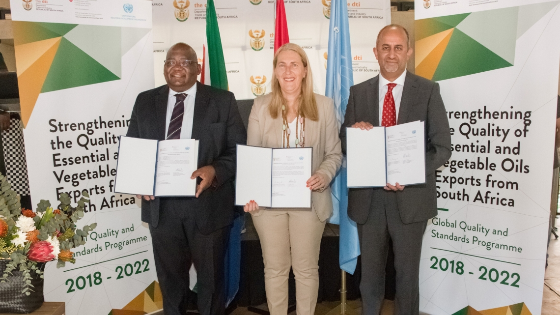 UNIDO and Switzerland launch Global Quality and Standards Programme project in South Africa