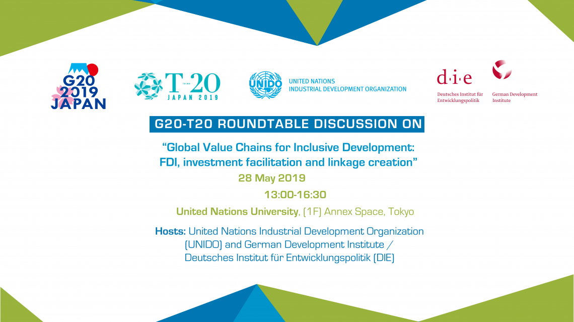 UNIDO and DIE to support G20-T20 deliberations on trade, investment and globalization