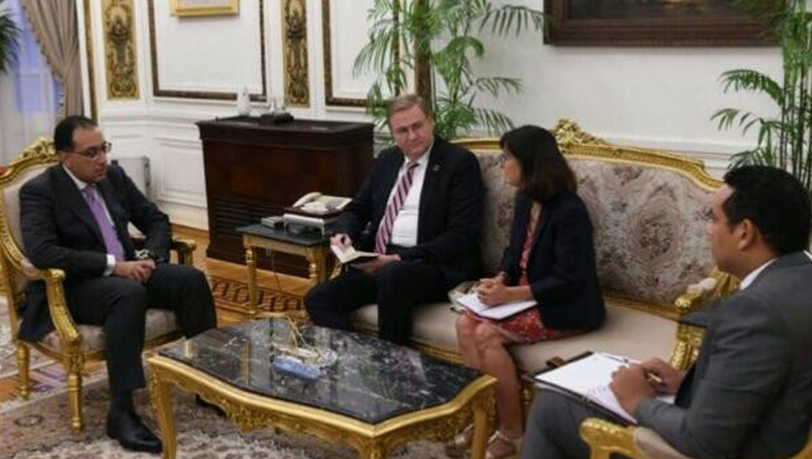 Egypt's PM holds talks with UNIDO Representative on developing Industry