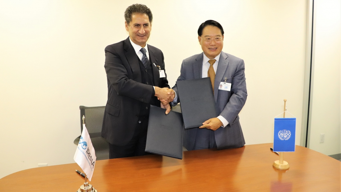IRENA and UNIDO strengthen collaboration on energy, climate change and sustainable development