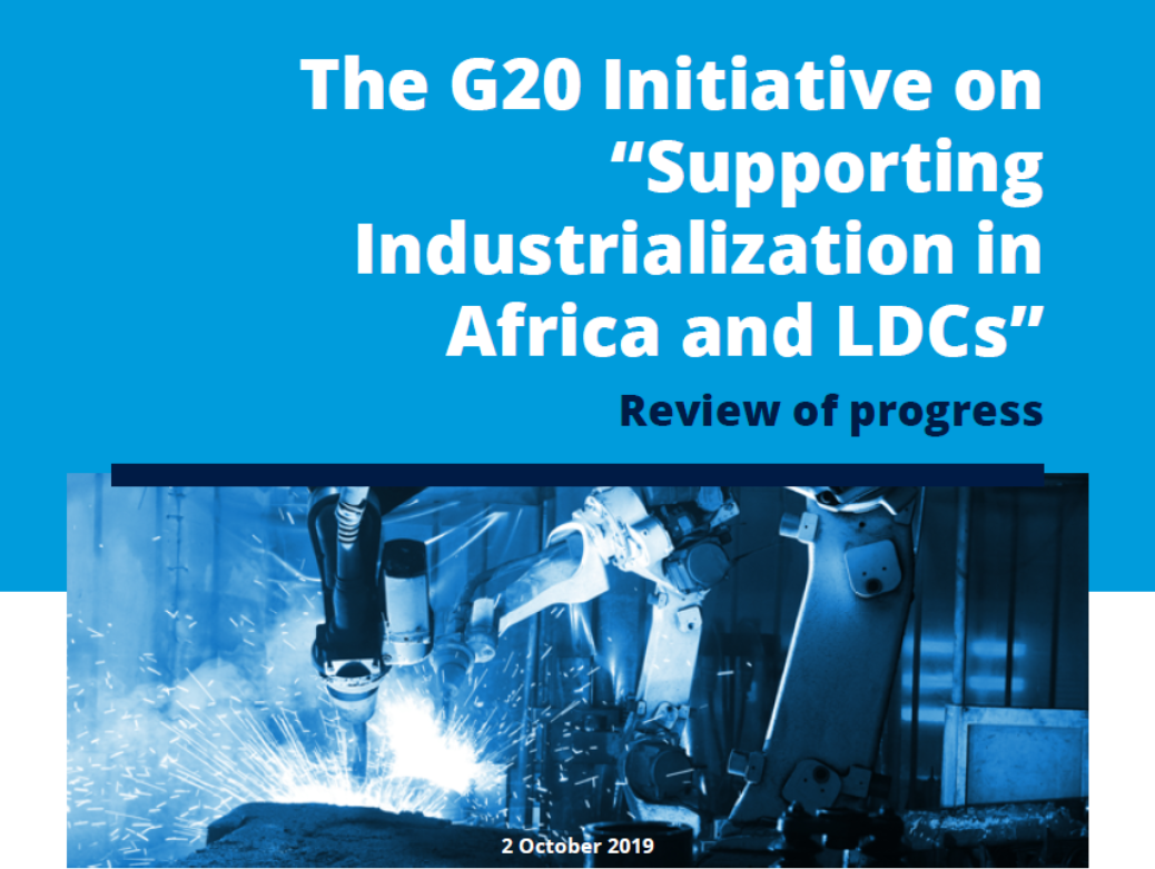 UNIDO launches report on the G20 initiative on industrialization in Africa and Least Developed Countries