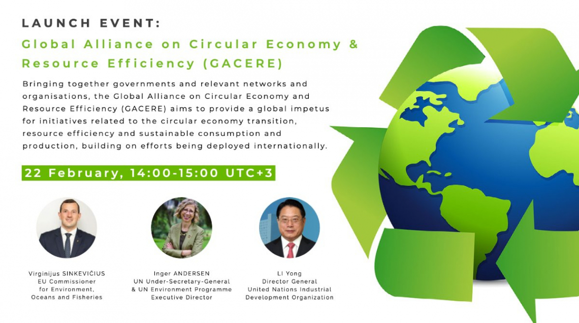 Launch of the Global Alliance on Circular Economy and Resource Efficiency