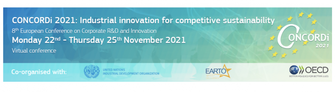 CONCORDi 2021 conference and call for papers: Industrial innovation for competitive sustainability