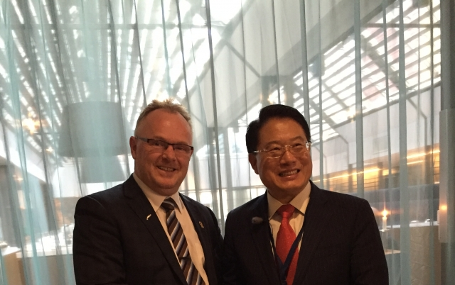 Meeting with the Norwegian Minister of Fisheries Per Sandberg