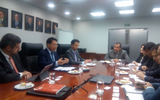 2016-DG Li at meeting organized by the Ministry of Production of Peru
