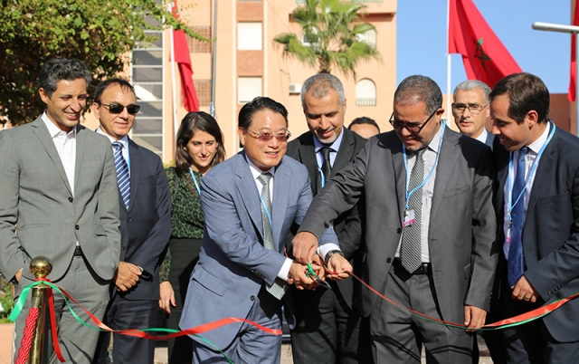 2016-DG at launching ceremony of Botanical gardens in Marrakech