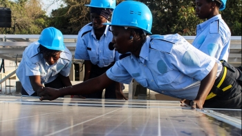 Empowering young women through renewable energy training