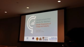 Infrastructure that works for women: gender dimensions of energy and industry