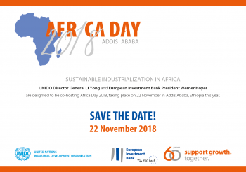 European Investment Bank and UNIDO to co-host Africa Day 2018