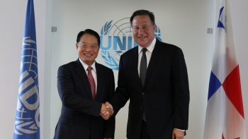 UNIDO Director General meeting with President of Panama