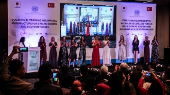 Syrian refugees in Turkey showcase their new skills in apparel manufacturing at fashion shows