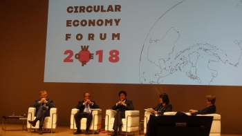 UNIDO Deputy to the Director General Kuniyoshi calls for globally coherent approach to Circular Economy during the 2018 WCEF in Yokohama