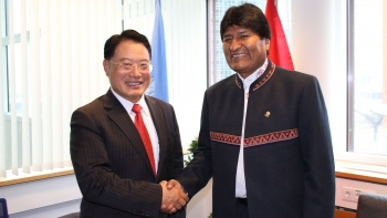 Director General LI met with the President of the Plurinational State of Bolivia, Juan Evo Morales