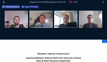 Capacity-building activities carried out remotely via video conference between Austria and Iraq
