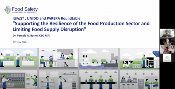 Webinar on how to promote  the resilience of the food production sector during a pandemic