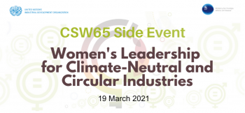 Women's leadership for climate-neutral and circular industries