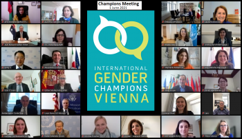 First 2021 biannual meeting of the International Gender Champions in Vienna
